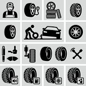 image of fuel efficiency  - Tires icon - JPG