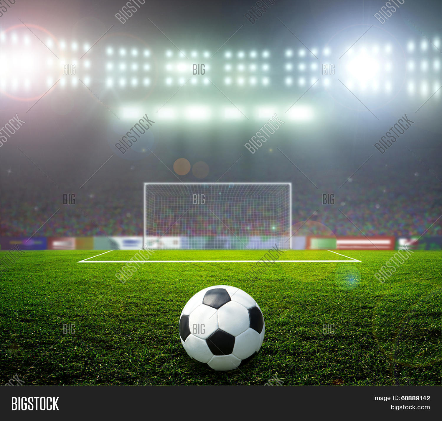 On Stadium. Abstract Football Image & Photo