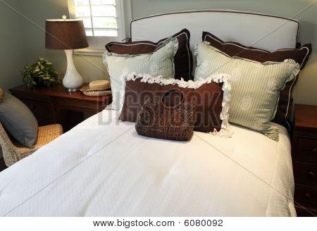 Stylish luxury home bedroom.