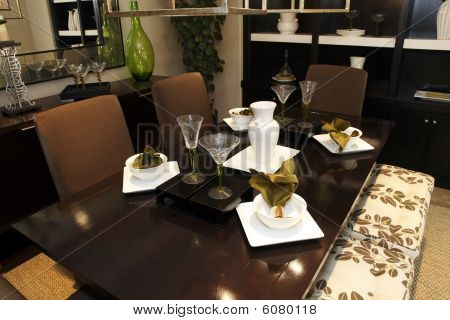 Luxury home dining table.