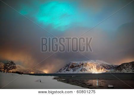 Northern Lights Hidden By Clouds