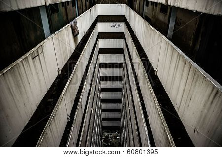 Staircases In An Abandoned