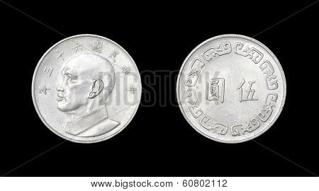 Coin of China with image of Chang Kaishi