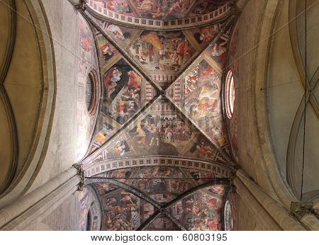 Decorated Ceiling In Arezzo