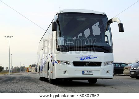 Volvo Coach Bus Waiting For Passengers
