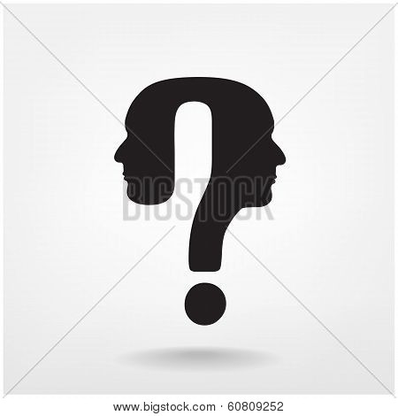 Question Mark Man Head Symbol