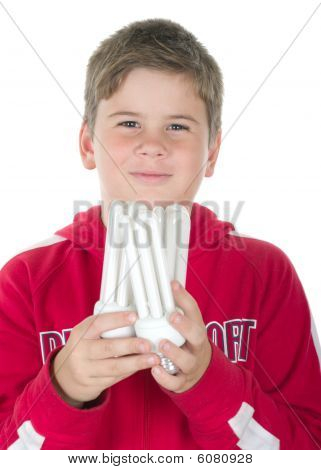 Boy Holds A Bulb