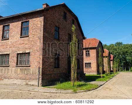 Buildings In Auschwitz Concentration Camp