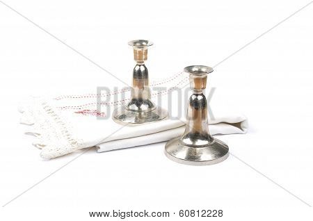Candleholder And Linen