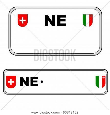 Neuchatel plate number, Switzerland