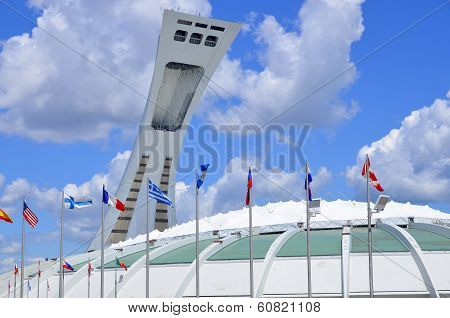 he Montreal Olympic Stadium and tower