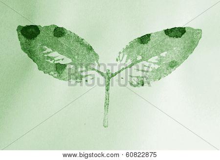 leaves stamp