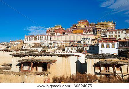 Tibetan monastery in Shangrila, China