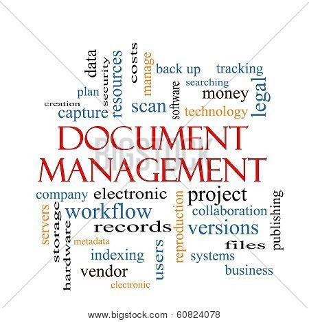 Document Management Word Cloud Concept