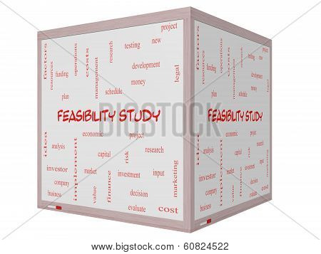 Feasibility Study Word Cloud Concept On A 3D Cube Whiteboard