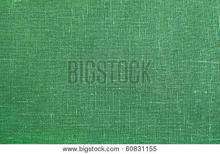 Green Linen Texture Background
