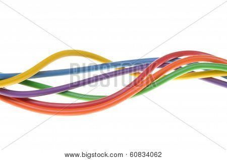 Electric colored wires used in electrical network