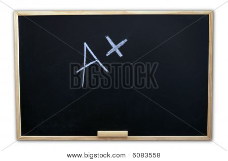 Chalkboard With Positive A Plus