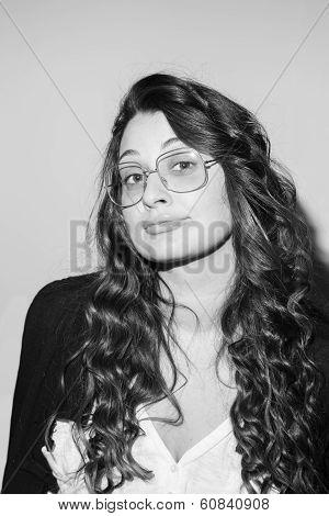 Portrait Of Young Smart Brunette Woman