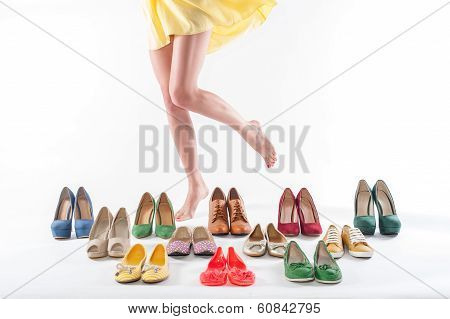 Woman feet and shoes
