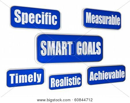 Smart Goals - Blue Business Concept Banners