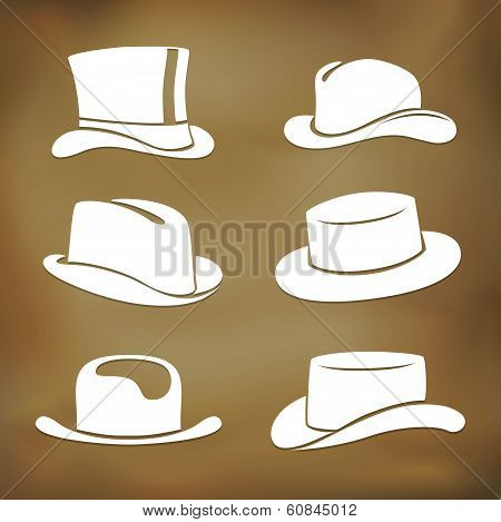 Classic Men Hat Silhouettes