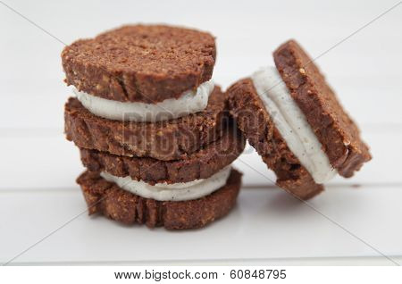 Home made Chocolate Sandwich Cookies