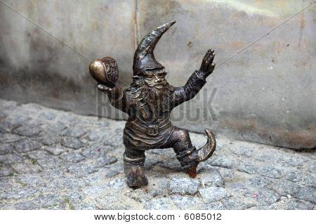 Gnome statue, Wroclaw, Poland