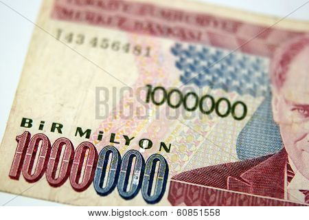 A One Million Turkish Lira Bill From Turkey