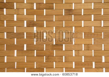 Woven Bamboo Mat Background Texture