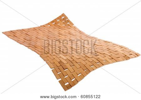 Whirling Bamboo Mat Floating In The Air