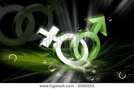 signo masculino y Femenino