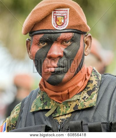 Face Painted Soldier