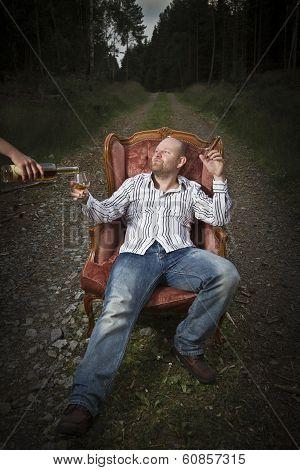Sleazy Man Get Served Cognac