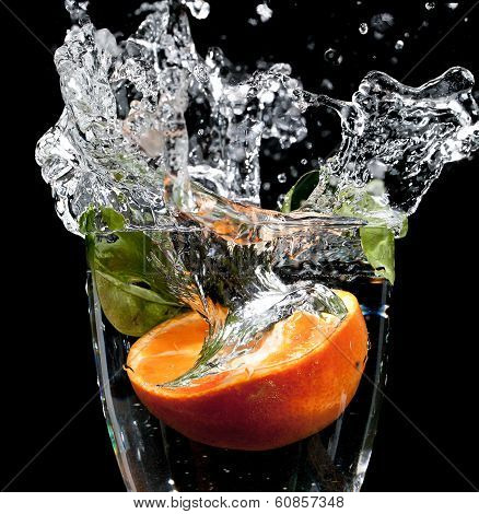 Fruit Drop With Big Splash