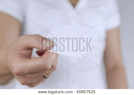 Woman Share Business Card