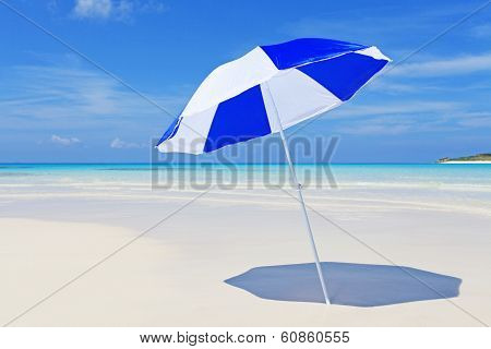 Beach umbrella and beautiful beach