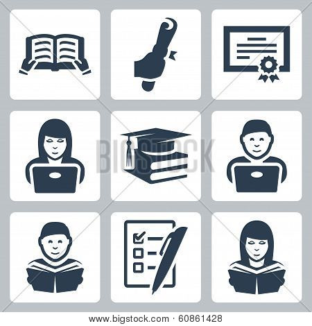 Vector Higher Education Icons Set