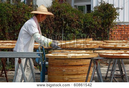 Sun Dried Noodles In Taiwan