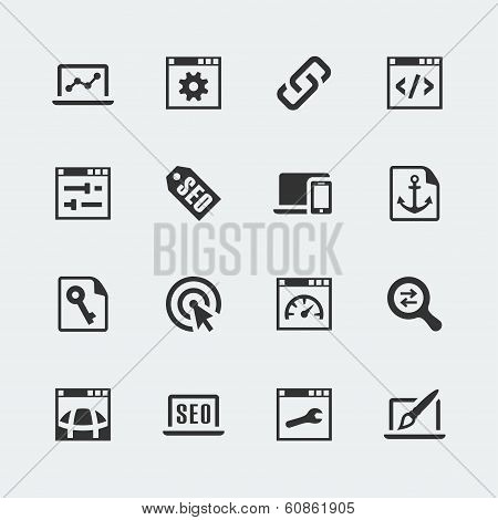 Vector Seo And Web Optimization Mini Icons Set