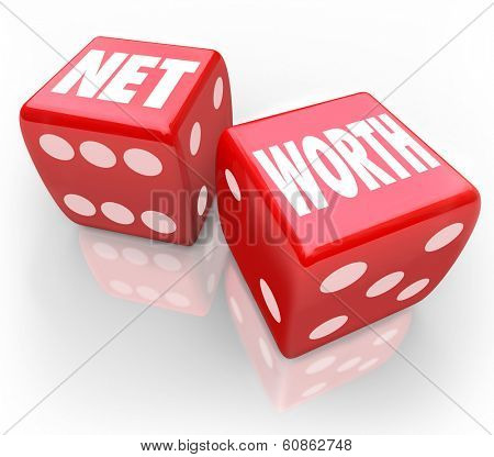 Net Worth Dice Risky Investment Bet Grow Wealth Value