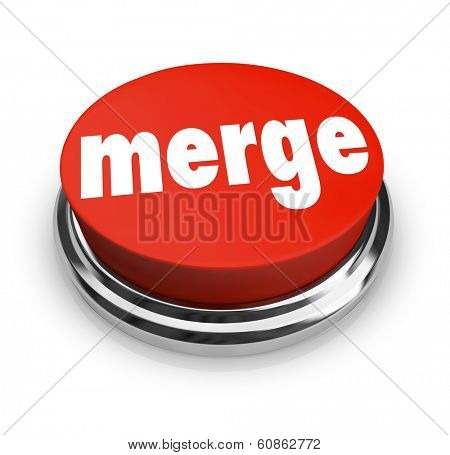 Merge Word Red Button Acquire Companies Larger Business