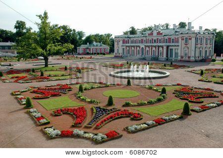 Oriental Garden With Castle