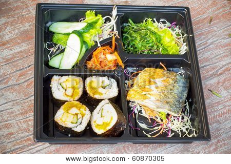 Bento lunchbox Japanese style