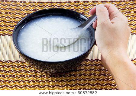 Plain rice porridge