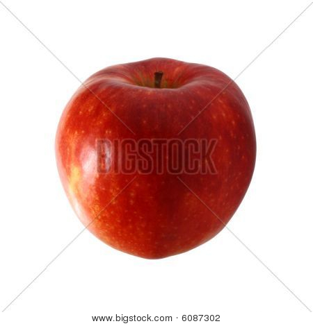 Red apple on white backgound