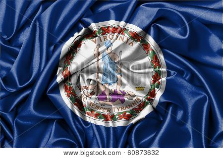 Satin Flag, Three Dimensional Render