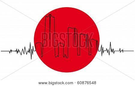 Symbol of the Japanese earthquake