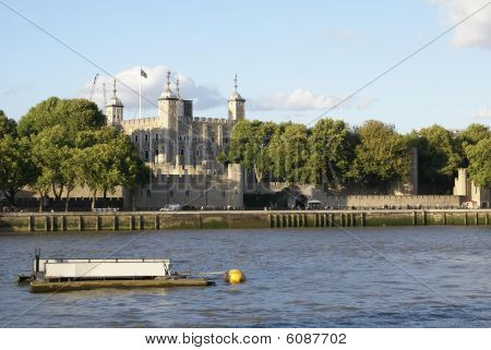 Tower Of London view and River Thames, London, England