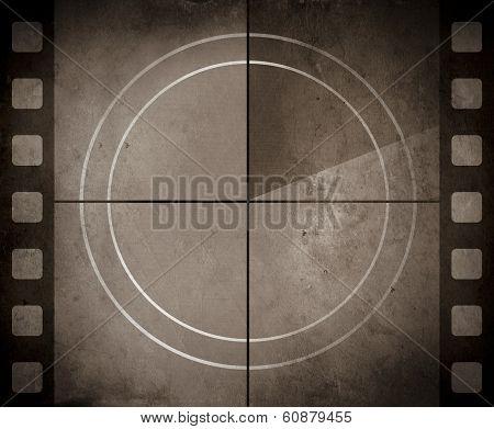 Vintage Movie Background With Film Strip Boarder